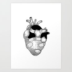The strongest hearts have the most scars Art Print