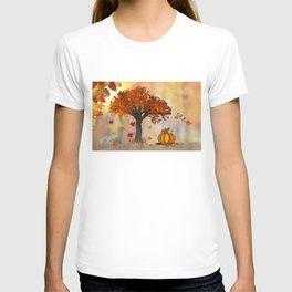 Autumn Squirrel Scene T-shirt