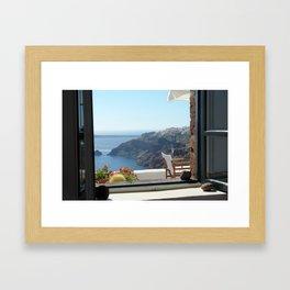 Greek Island View Framed Art Print