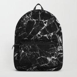 Elegant black white abstract stylish marble Backpack