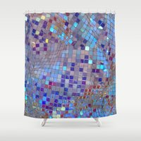 disco Shower Curtains featuring Disco by JulesRose16