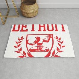 Detroit City Spirit Crest Rug