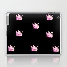 pink bird on black background Laptop & iPad Skin