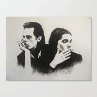 nick cave Canvas Prints featuring NICK CAVE by Bailey McNicol