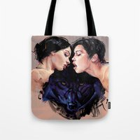 beast Tote Bags featuring Beast by Tyson McAdoo