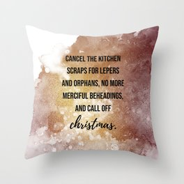 ... and call of christmas - Movie quote collection Throw Pillow