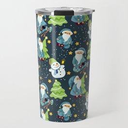 Christmas Winter Pattern Travel Mug