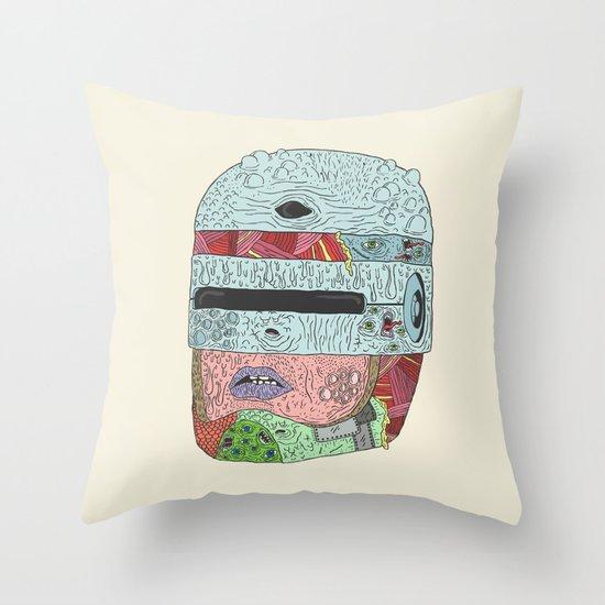 Gorebocop Throw Pillow