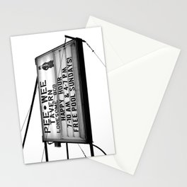 Pee Wee tavern sign Stationery Cards