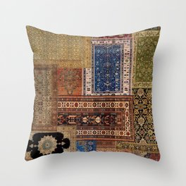 Antique Rugs Throw Pillow