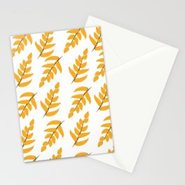 Orange leaves and branches Stationery Cards