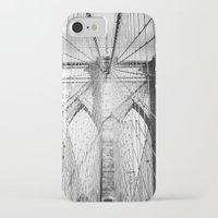 brooklyn bridge iPhone & iPod Cases featuring Brooklyn Bridge by Vivienne Gucwa