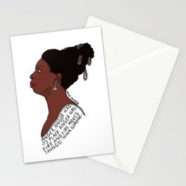 Nina Simone -Anger 2 Stationery Cards