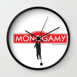 Monogamy Wall Clock