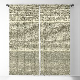 The Rosetta Stone // Parchment Blackout Curtain