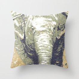 Thembi Elephant Painting Throw Pillow