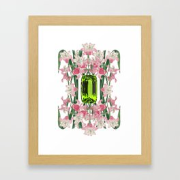 AUGUST/ Birth Stone & Flower Framed Art Print