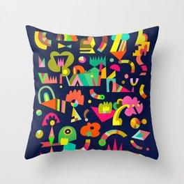 Schema 5 Throw Pillow