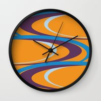carnival Wall Clocks featuring Carnival by Ramon J Butler-Martinez