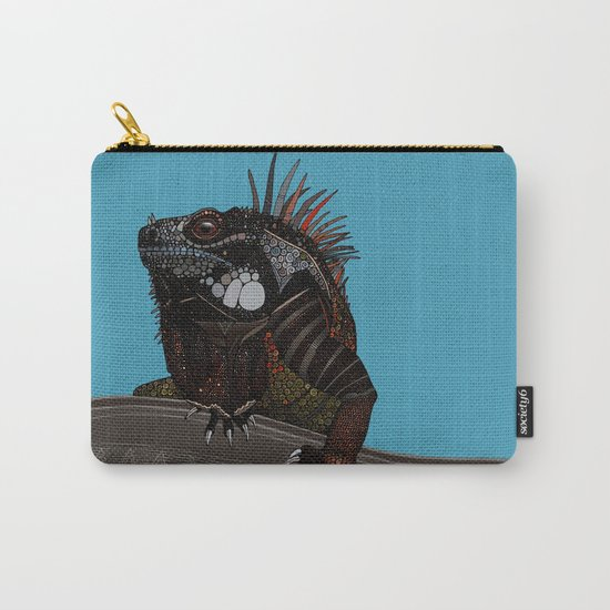iguana blue Carry-All Pouch