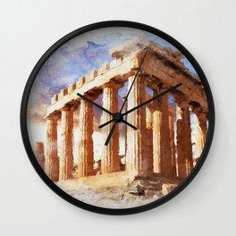 Acropolis Of Athens Wall Clock