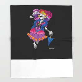 La Calavera Catrina Throw Blanket