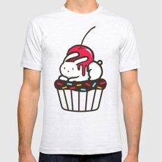 Chubby Bunny on a cupcake Mens Fitted Tee 2X-LARGE Ash Grey