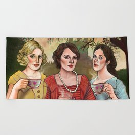 The Crawley Sisters Beach Towel