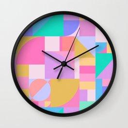 Colourful Bauhaus Wall Clock