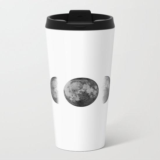 Phases of the moon - Scandinavian art Metal Travel Mug
