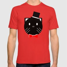 Fancy Cats wear Top Hats Mens Fitted Tee Red X-LARGE