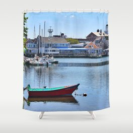 Eel Pond, Woods Hole Falmouth on Cape Cod in Massachusetts Shower Curtain