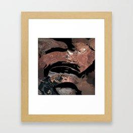 Black desert waters Framed Art Print