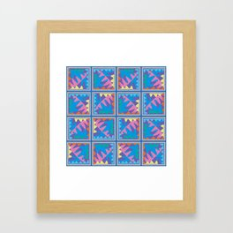 Mountain Puzzles Pastel Framed Art Print