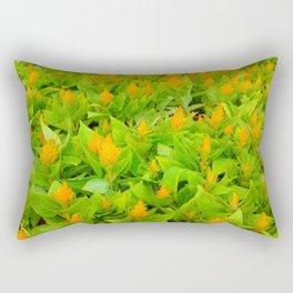 Field of Celosia Rectangular Pillow