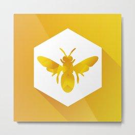 Polygon Bee Metal Print