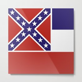 mississippi state flag united states of america country Metal Print