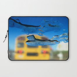 yellow bus and ice photography Laptop Sleeve