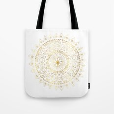 Gold Hand Drawn Mandala Tote Bag