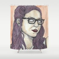 oitnb Shower Curtains featuring Vause OITNB by Ashley Rowe