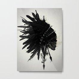 Warbonnet Skull Metal Print