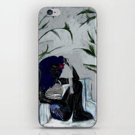 Black Plant Magic iPhone Skin