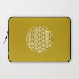 Flower of Life – Golds & White Laptop Sleeve