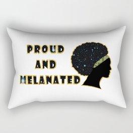 Proud and melanated Rectangular Pillow