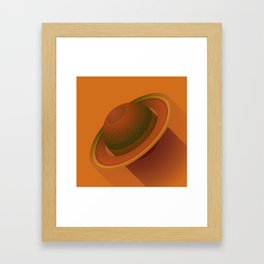 Flat Planet - #2 Saturn Framed Art Print