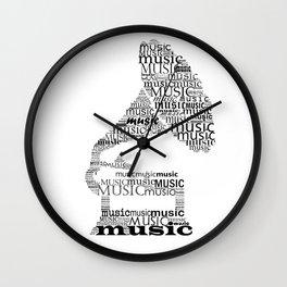 Typographic gramophone Wall Clock