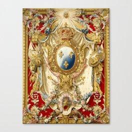 Portière aux Armes de France Canvas Print