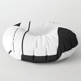 Minimal Mountains Floor Pillow