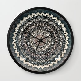 WARM WINTER MANDALA Wall Clock
