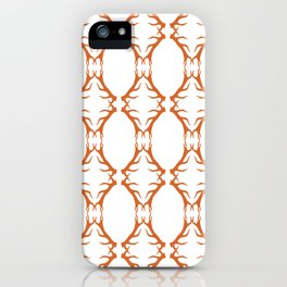 Modern Antler: Orange iPhone Case